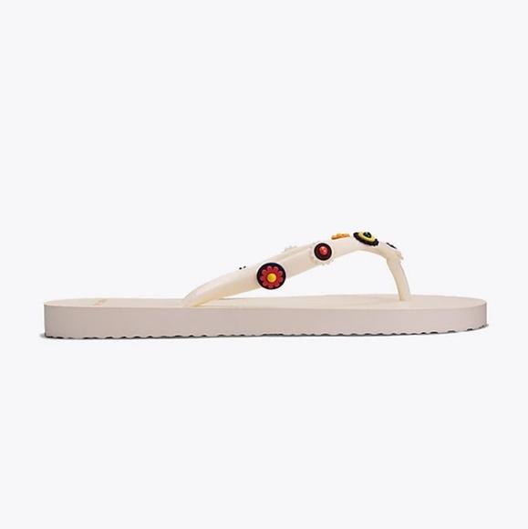 8c77ff82d4c0 New Tory Burch Marguerite Flip Flops Sandals Sz 5